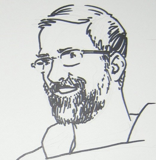 drawing of author MATT HOLMES
