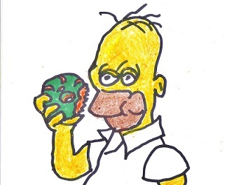 Homer-like cartoon smaller